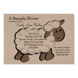 Little Lamb Baby Shower Custom Announcements