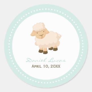 Little Lamb Baptism Stickers