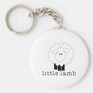 Little Lamb Basic Round Button Key Ring