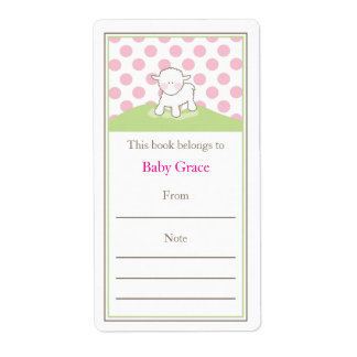 Little Lamb Bookplate Shipping Label