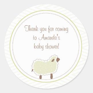 Little Lamb Favor Sticker