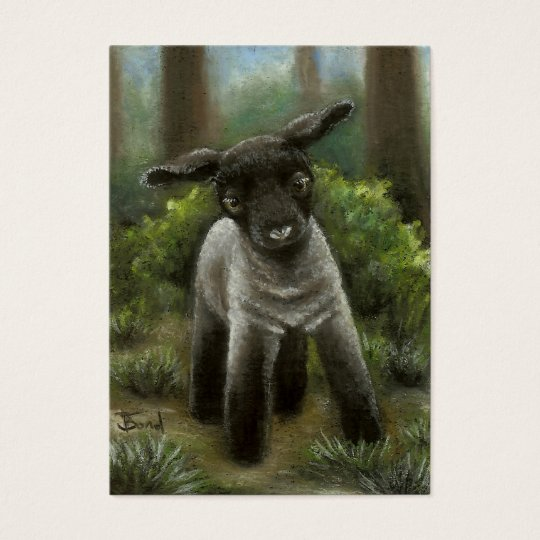 Little lamb in the woods ACEO prints Business Card