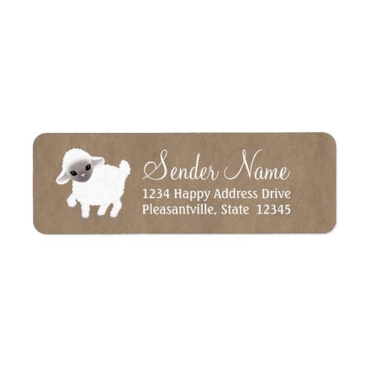 Little Lamb Return Address Labels