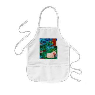 Little Lamb Smelling the Flowers Art Gift Apron