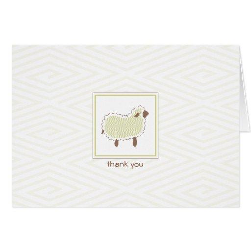 Little Lamb Thank You Card