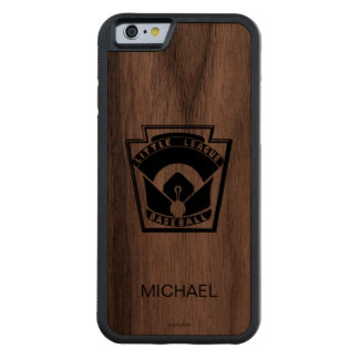 Little League Baseball Carved Walnut iPhone 6 Bumper Case