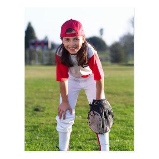 Little league player postcard