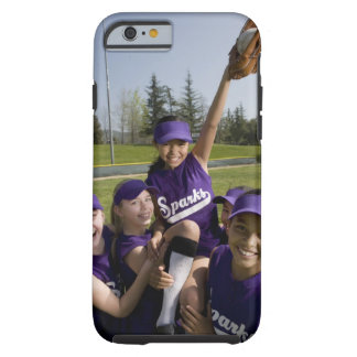 Little league players carrying teammate tough iPhone 6 case