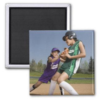 Little league softball game magnet