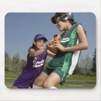 Little league softball game mouse pad