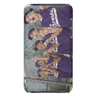Little league team cheering in dugout iPod touch case