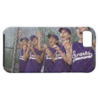 Little league team cheering in dugout tough iPhone 5 case