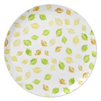 Little lemons - Melamine Plate