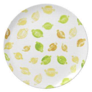 Little lemons - Melamine Plate (2)