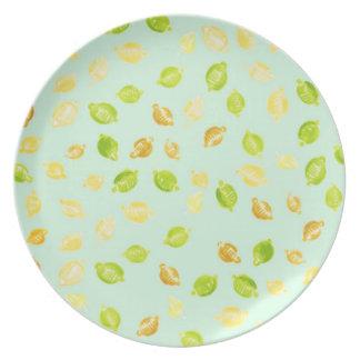 Little lemons - Melamine Plate (4)