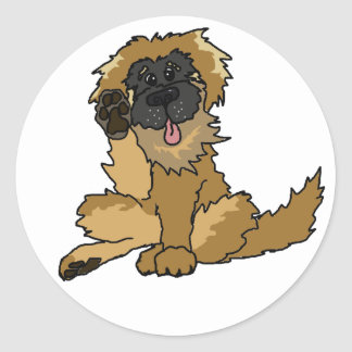 little Leo sticky Classic Round Sticker