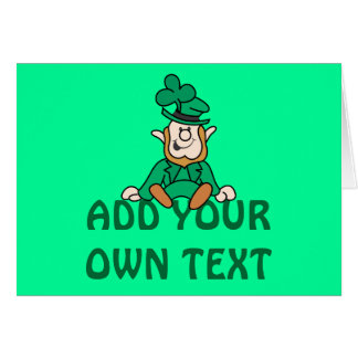 Little Leprechaun - Add Your Own Text Greeting Card