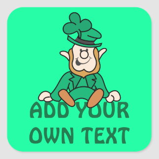 Little Leprechaun - Add Your Own Text Square Sticker