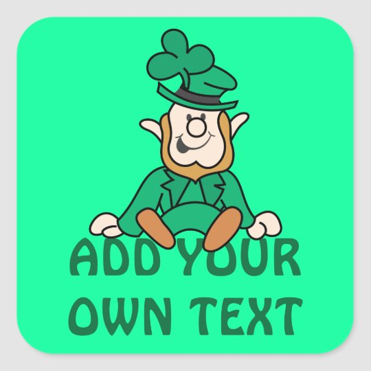Little Leprechaun - Add Your Own Text Square