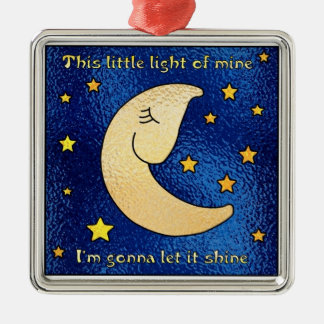 Little Light of Mine Silver-Colored Square Decoration
