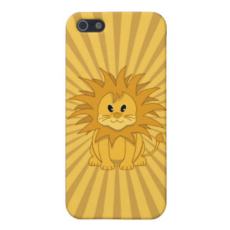 Little Lion Cute Cartoon Cat Cover For iPhone 5/5S