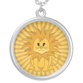 Little Lion Cute Cartoon Cat Silver Plated Necklace