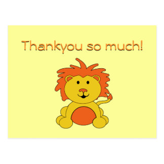 """Little Lion"" Thankyou Postcard Notes"