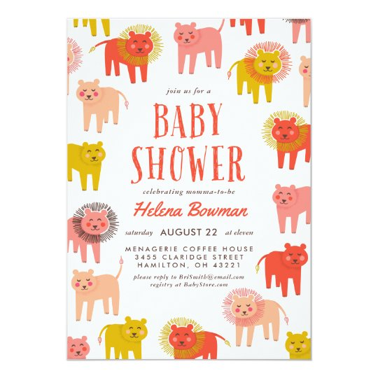 Little Lions Desert Warm Baby Shower Invitation