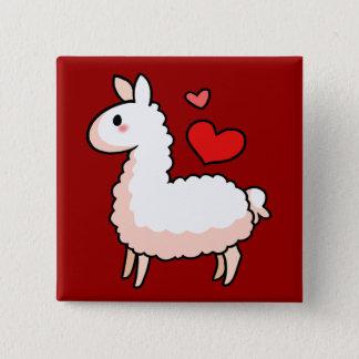 Little Llama 15 Cm Square Badge