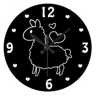 Little Llama Large Clock