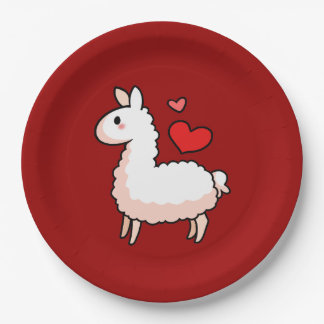 Little Llama Paper Plate