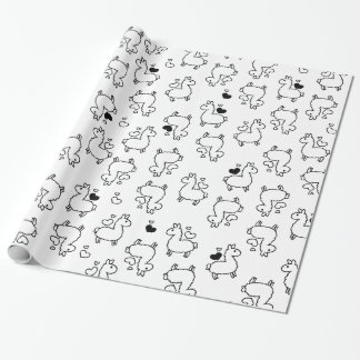 Little Llama Silhouette Madness Wrapping Paper