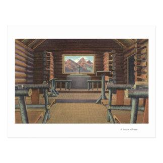 Little Log Church at Snake River View Postcard