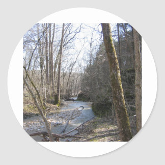 Little Lost Creek CA Round Stickers