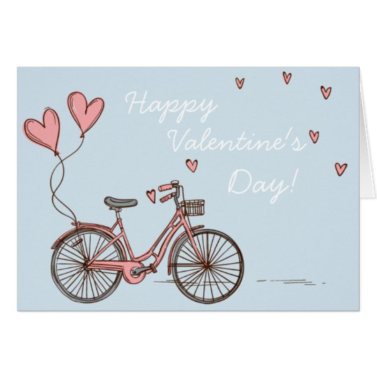 Little Love Bike Valentine's Day Card