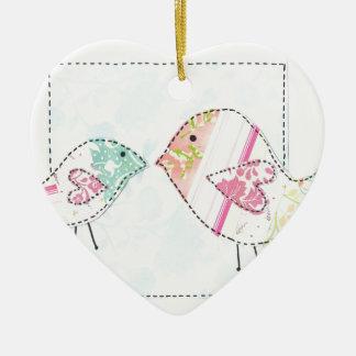 little love birds ceramic heart decoration