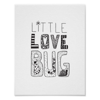 Little Love Bug - Nursery or Kids Room Art Poster