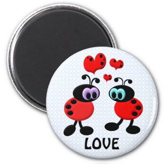 Little Love Bugs 6 Cm Round Magnet