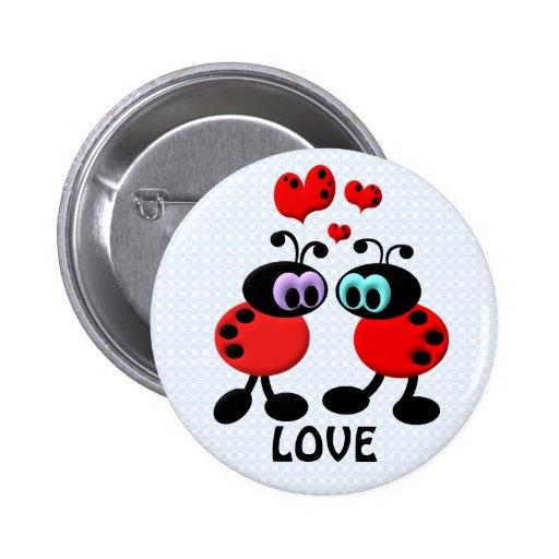 Little Love Bugs Pinback Buttons