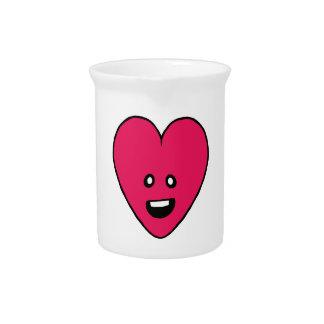 Little love heart healthbar cute design beverage pitchers