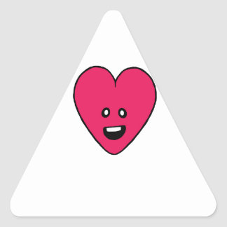 Little love heart healthbar cute design triangle sticker