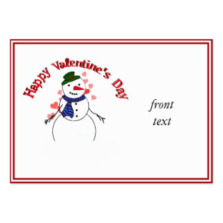 Little Lover Snow Boy - Happy Valentine s Day Business Card Template