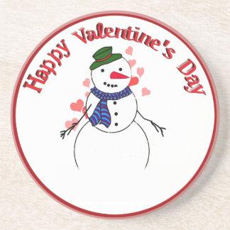 Little Lover Snow Boy - Happy Valentine s Day Beverage Coasters
