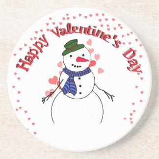 Little Lover Snow Boy - Happy Valentine s Day Coaster