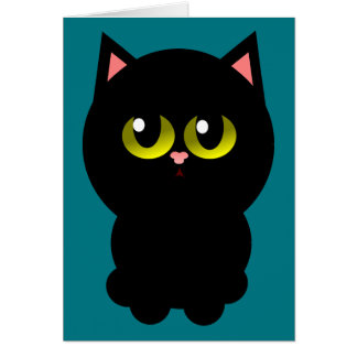Little Lucky Black Cat Card