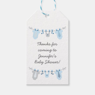 Little Man Baby Clothes Party Favor Tags