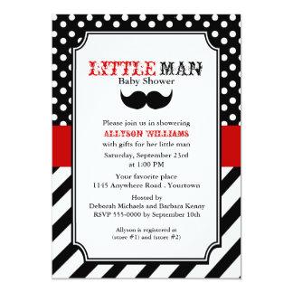 Little Man Baby Shower 13 Cm X 18 Cm Invitation Card