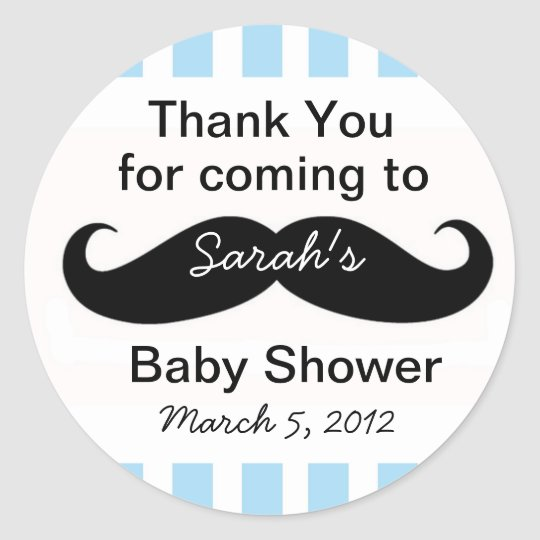 Little Man Baby Shower party Favour Stickers gift
