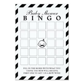 Little Man Black Stripes Baby Shower Bingo Cards