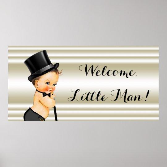 Little Man Boy Baby Shower Poster